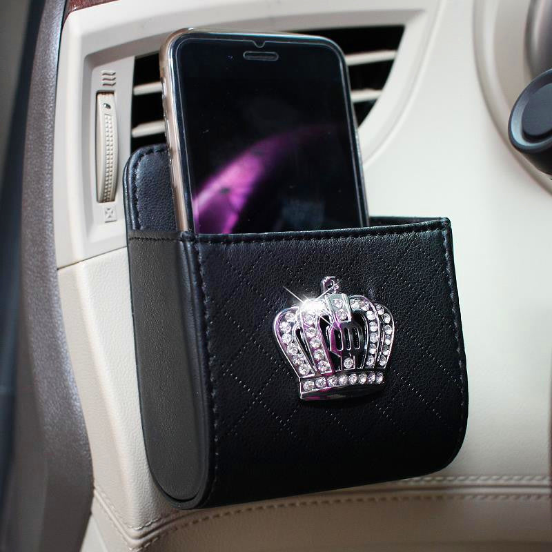 Car Sun Shade >> Bling Crown Car Accessory-Air Vent Mounted Sunglasses cell ...
