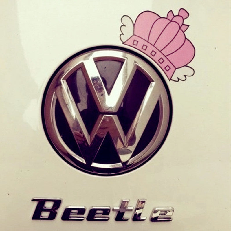 Pink Crown Princess Decal Vinyl Sticker For VW Beetles/Mini coopers/Smart - Carsoda