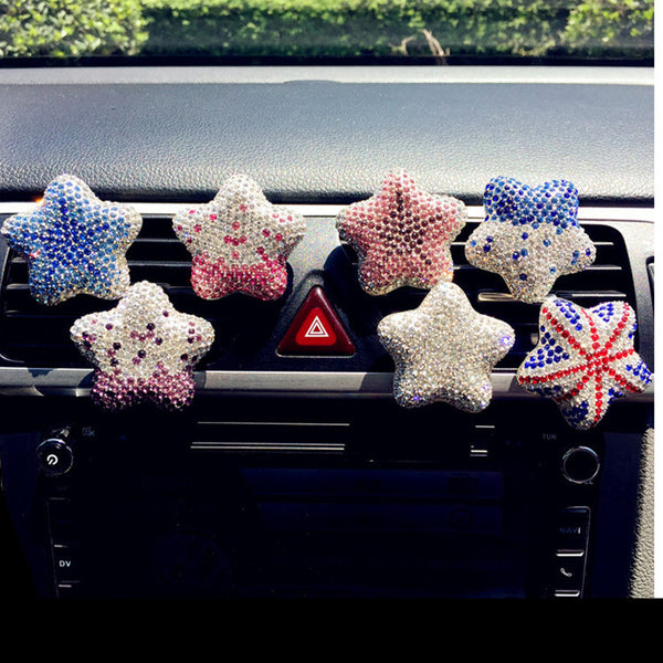 Bling Your Ride-Starfish Car Air Vent Rhinestones - Carsoda - 1