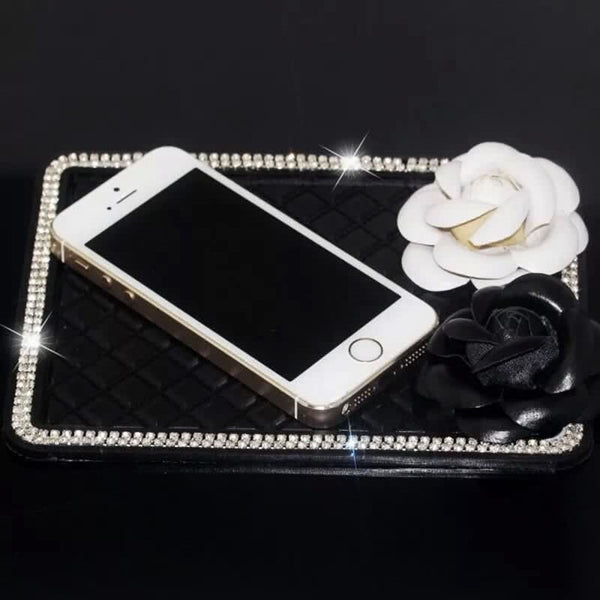 Car Dashboard Anti-slippery Rhinestones Mat Mobile Phone Holder - Carsoda - 1