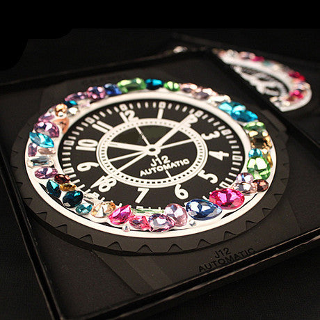 Car Dashboard Anti-slippery Mobile Phone Rhinestones Embedded Mat -Luxury Watch Inspired - Carsoda - 1