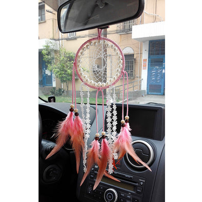 Dream Catcher Hanging Car Mirror Charm Ornaments Rearview Mirror - Carsoda