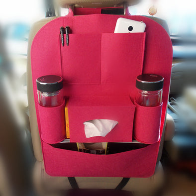 Hot Pink Girly Back Seat Organizer - Carsoda