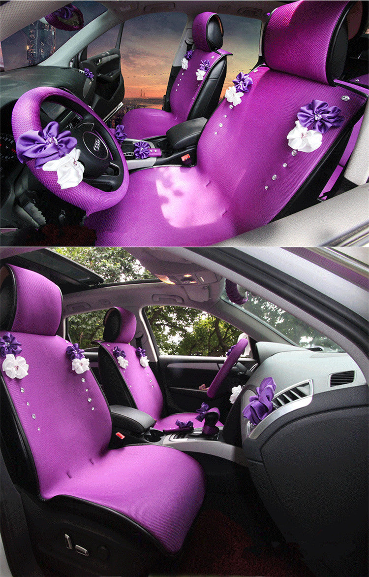 How To Unlock Steering Wheel >> Purplize Your Ride-Purple car seat cover with Rhinestone bling Five-pi – Carsoda