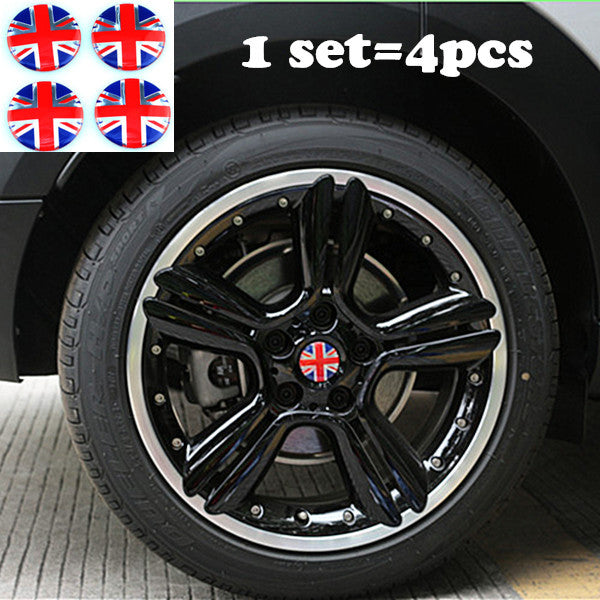 4PC MINI Cooper UK flag Badge OEM Car Wheel Center Hubs Caps Emblem r50 r52 r53 r55 r56 r57 - Carsoda