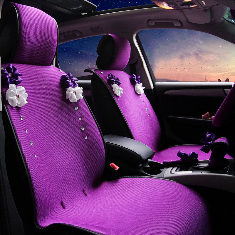 Purplize Your Ride Purple Car Seat Cover With Rhinestone Bling Five Pi Carsoda