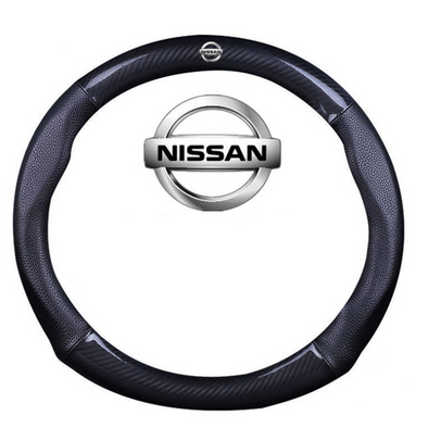 Carbon Fiber and Leather Steering wheel cover for Nissan