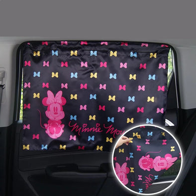 Car window coverings- Mickey Car Window UV Curtains 2X - Carsoda