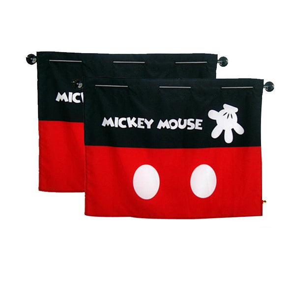 Car Window Shade for Baby - Mickey Car Window UV Curtains 2X - Carsoda