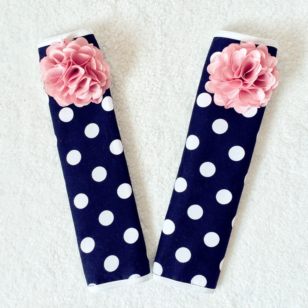 Polka Dots Seat Belt Cover (2x) - Carsoda