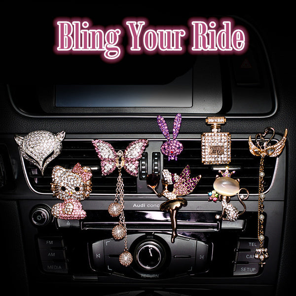 Bling Your Ride-Rhinestone Car Air Vent Bling Decoration - Carsoda - 1