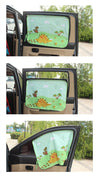 Car Sun Shade for Baby - Little Train Pattern UV Shield - Carsoda - 2