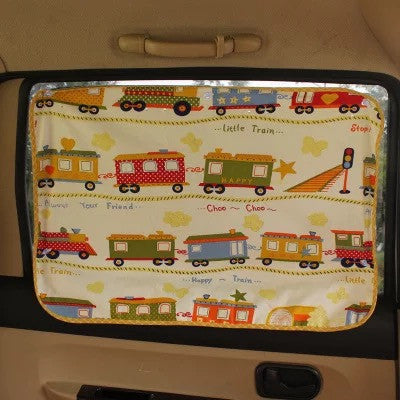 Car Sun Shade for Baby - Little Train Pattern UV Shield - Carsoda - 1