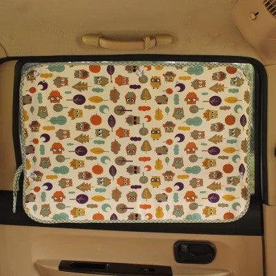 Car Window Shades - Owl UV Curtains for Car - Carsoda - 1