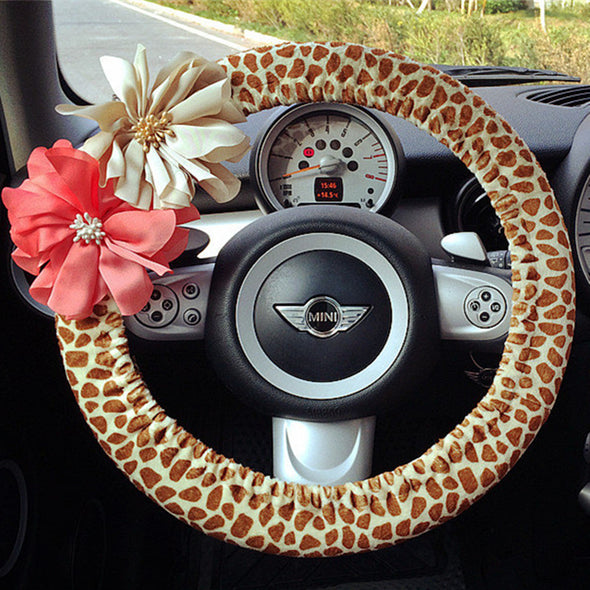 Giraffe Print Steering wheel cover - Carsoda