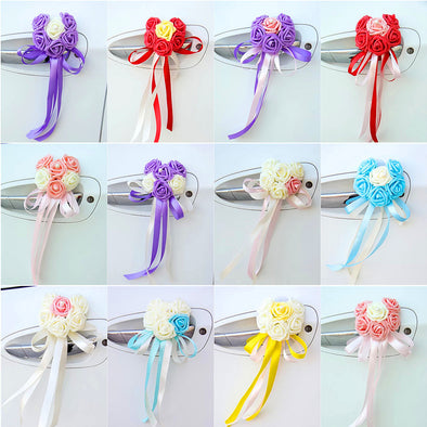 Wedding Car Decoration- Heart Shape Roses 12 Color Combinations - Carsoda - 1