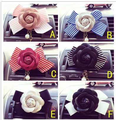 Camellia Flower and Bow - Air Vent Bling Decoration - Carsoda - 9