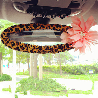 Leopard Print Rearview Mirror Cover - Carsoda - 1