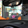 Car Bling Charm-Jack Union Flag Racing Checkers Pendants - Carsoda - 2