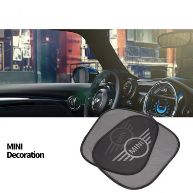 Mini Cooper/Countryman Side Windows UV Sunshade with LOGO For F56 F55 Clubman (2x)