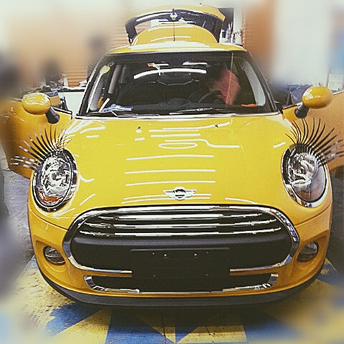 Black Car Headlight Eyelashes with 3M Sticker For Mini and beetles