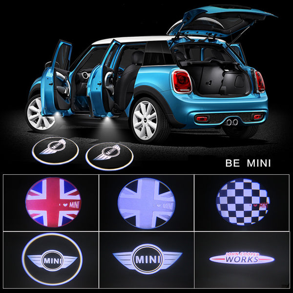 MINI COOPER LOGO Welcome LED Door courtesy Shadow Lights for Mini Cooper 2x - Carsoda - 1