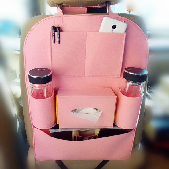 Pink Girly Back Seat Organizer - Carsoda