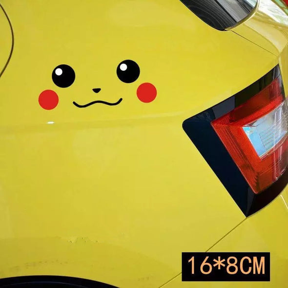 Smiley Pikachu Pokemon Car Decal - Carsoda