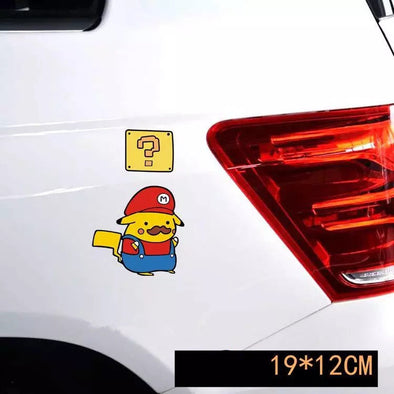 Super Mario Pokemon Car Decal - Carsoda