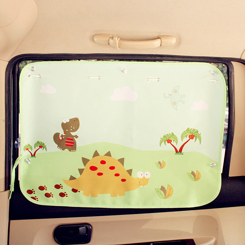Rear Window Shade for Baby - Dinosaur Car Window UV Curtains - Carsoda - 1