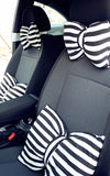 Stripe Bow Shaped Car Seat Headrest Pillow - Carsoda - 3