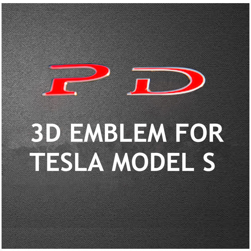 Tesla Model S P90D 3D Logo Emblem Badge Sticker Chrome Letters - Carsoda