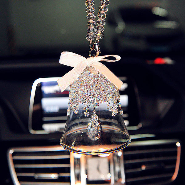 Car Mirror Charm-Hanging Snowfake Bell Rear View Mirror Pendant - Carsoda - 1