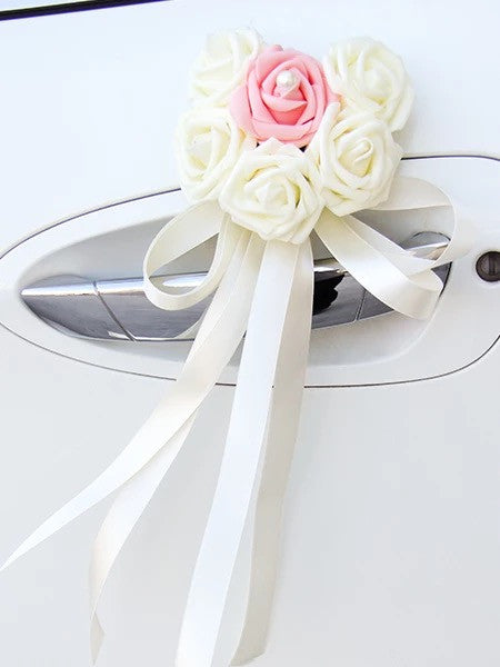 Wedding Car Decoration- Heart Shape Roses 12 Color Combinations - Carsoda - 3