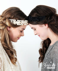 Headband cotton lace white