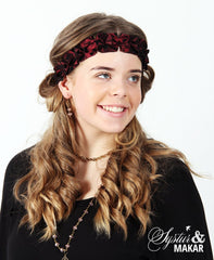 Headband winecolor silk