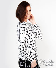 Gúlpa white plaid