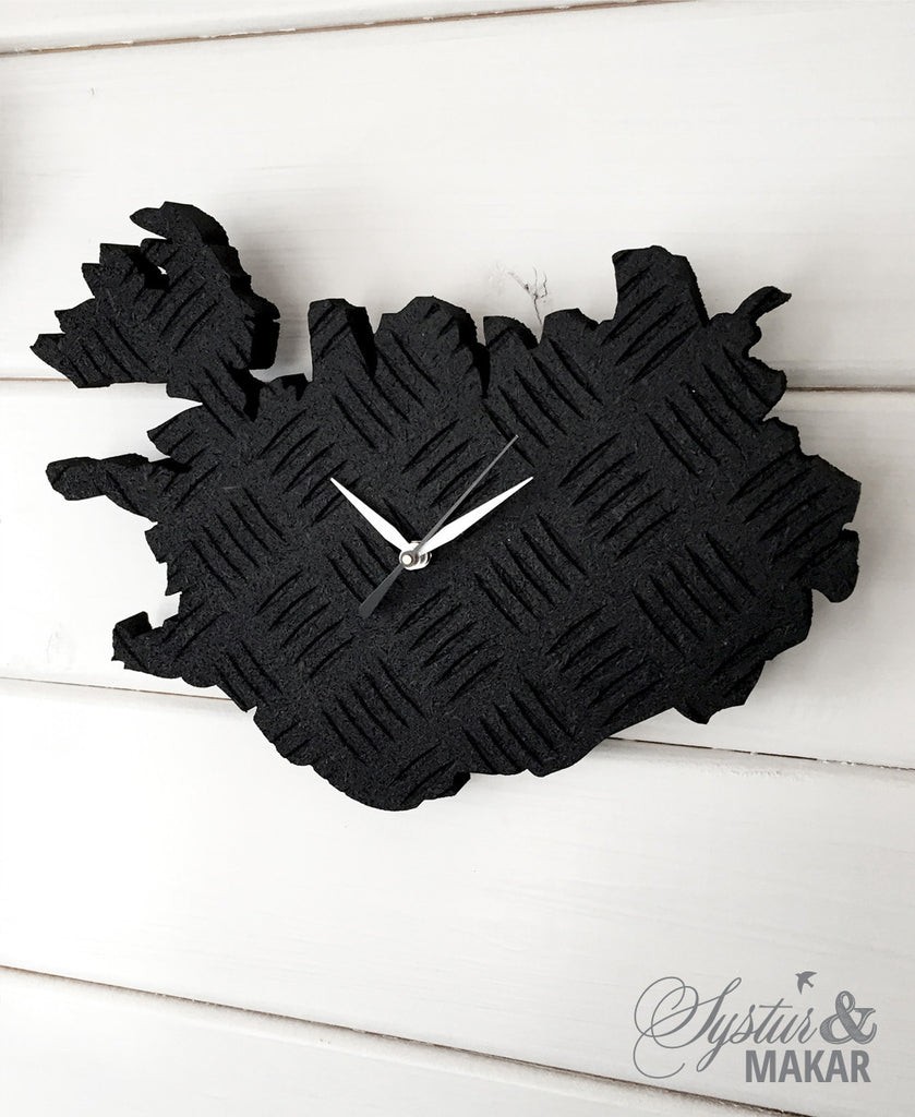 Iceland clock- rubber