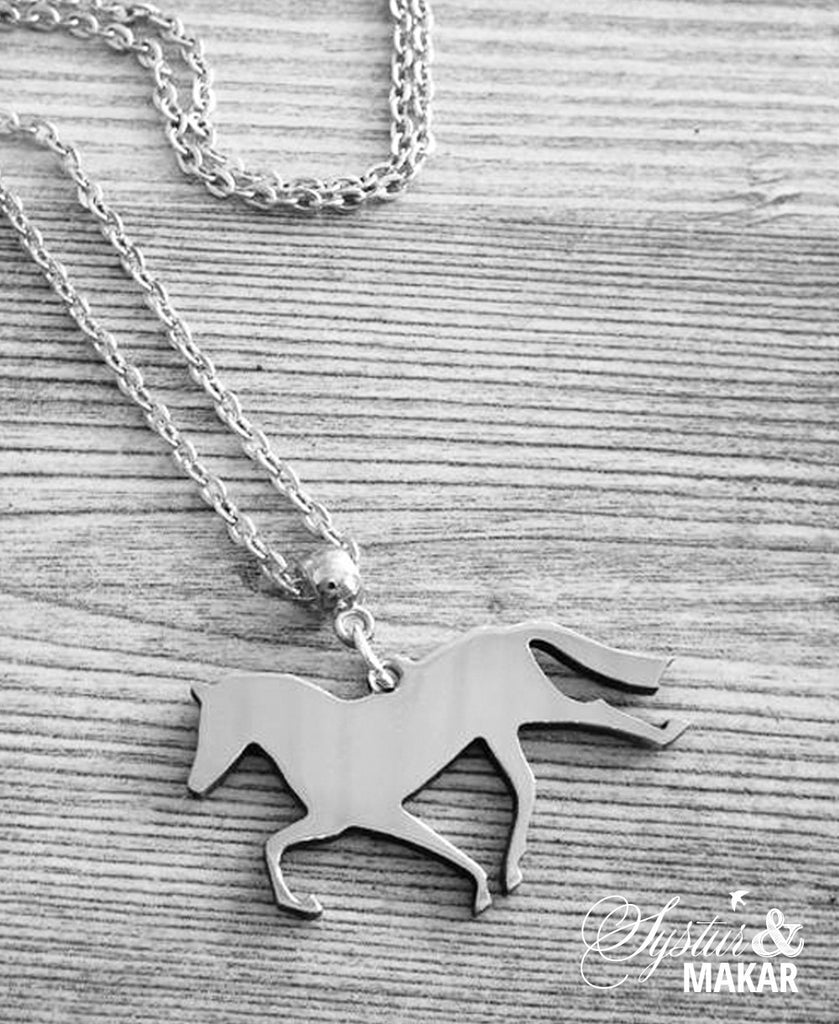 Steel necklace - horse