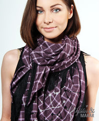 Scarf wine with zodiac signs
