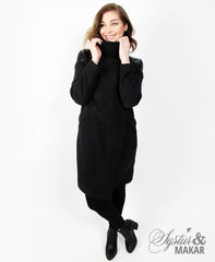 Katla - sweater coat dark grey