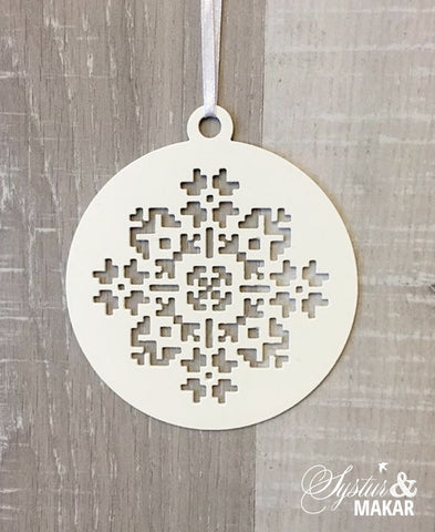 Icelandic flower pattern ornament