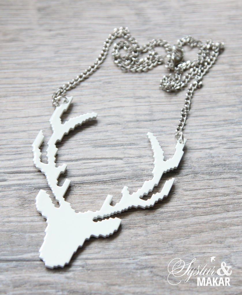 Origami stag necklace