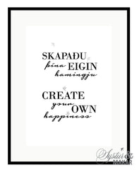 Create your own happiness poster