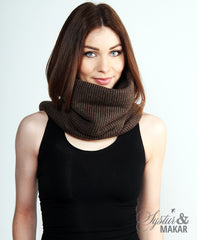 Wool collar brown