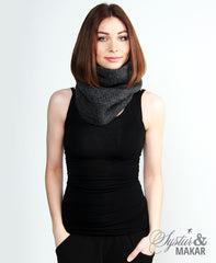 Wool collar - dark grey