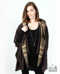 Vendingur brown with beige plaid