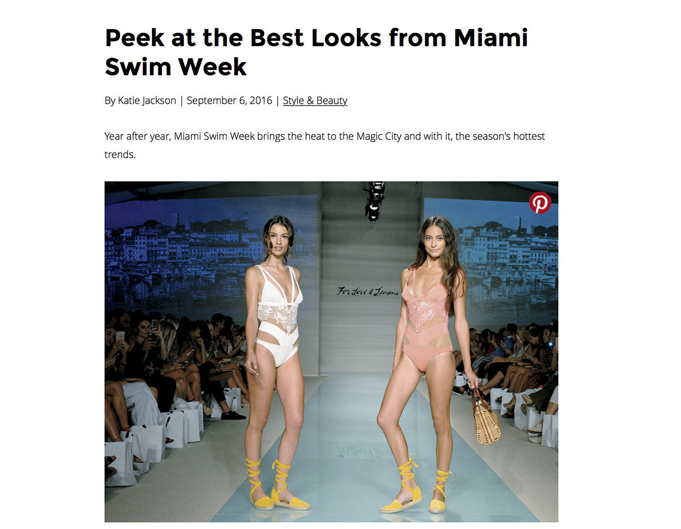 OceanDrive- Best Looks From Miami Swim Week