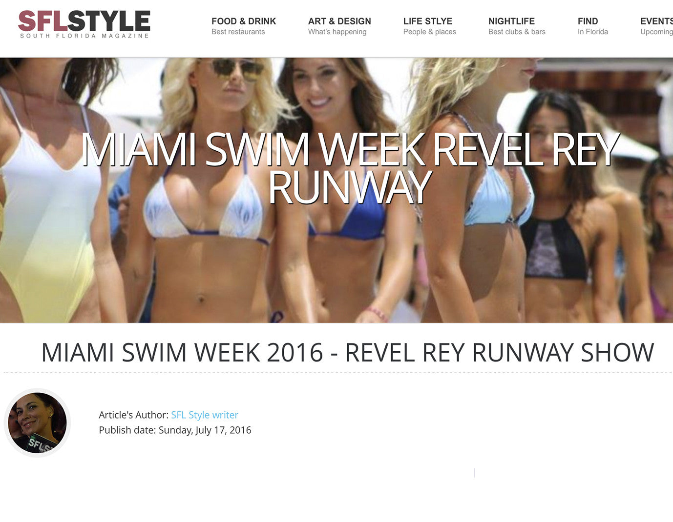 South Florida Style- Revel Rey Runway Show