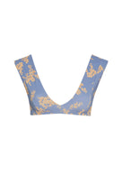 Abigail Top - Blue Botanical